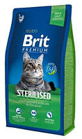 Brit Premium Cat Sterilized сухой корм для стерилизованных котов 8КГ