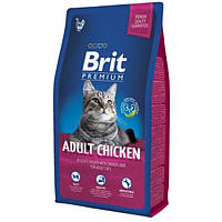 Brit Premium Cat Adult Chicken сухой для взрослых кошечек, с курицей 8КГ