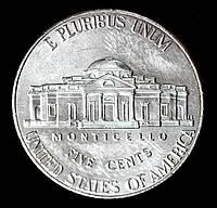 Монета США 5 центов 2015 г.