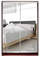 Шкаф-купе двухдверный Стандарт зеркало + зеркало