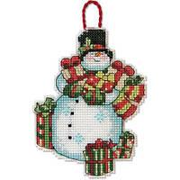 Набор для вышивки крестиком DIMENSIONS Snowman Ornament Украшение Снеговик