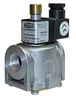 Электромагнитный клапан DN25 MADAS (Italy) для природного газа с ручным взводом затвора , фото 1
