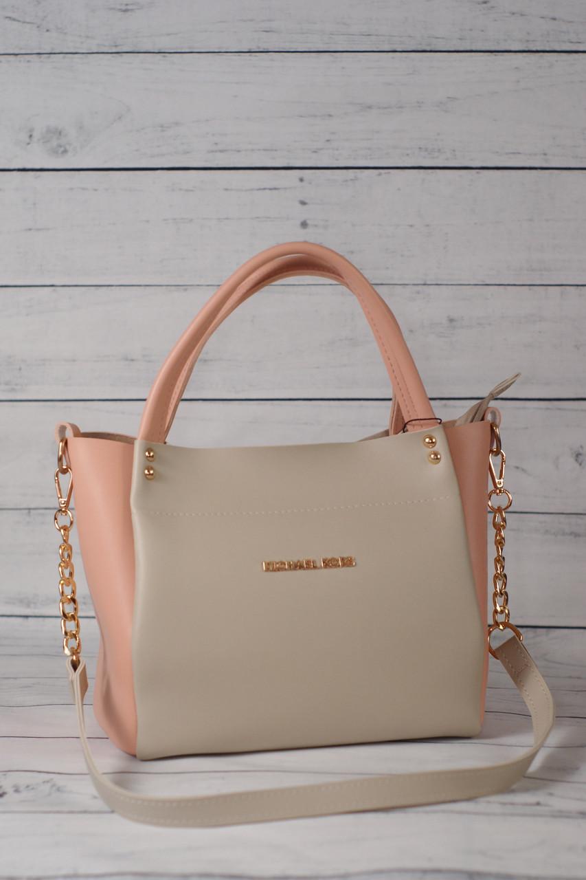 6f17bbfae210 Женская сумка Michael Kors (Майкл Корс), светло-розовая (пудровая) с ...