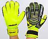 Рукавички воротарські з захисними вставками на пальці FB-882-1 REUSCH (PVC, розмір 8-10, чорний-салатовий), фото 5