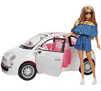 Игровой набор Барби с машиной Фиат 500 Barbie Fiat Sport Coupe Car and Doll Exclusive FVR07