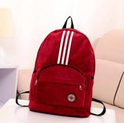 Оксамитовий рюкзак спортивного стилю Kipling, фото 2