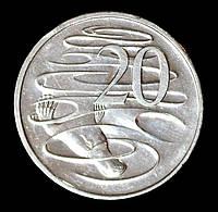 Монета Австралии 20 центов 2005 г.