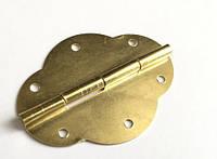 Петля  фигурная золото 45х35  мм