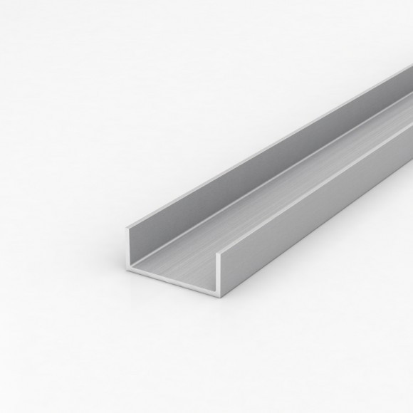 Алюмінієвий швелер шириною 40мм висотою 20мм товщина стінки 2мм анодований