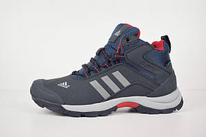 Зимние мужские кроссовки Adidas Climaproof на меху, темно-синие