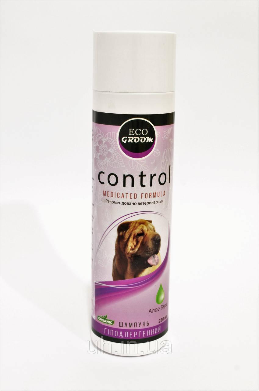 EcoGroom Control органический шампунь для собак и кошек со склонностью к аллергиям 250мл