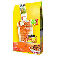 Friskies сухой корм для кошек с курицей, печенью и овощами 10КГ