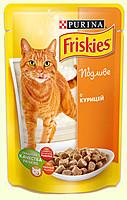 Friskies консервы для кошек, с курицей в подливе, 100г*20 шт
