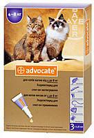 Bayer Адвокат для котов 4-8кг (упаковка 3 пипетки)