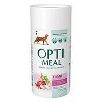Optimeal сухой корм для взрослых котов чувствительное пищеварение с ягненком 0,65КГ