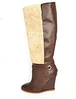 Сапоги кожаные демисезонные коричневые Diesel Black Gold, 39