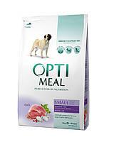 Optimeal Adult Small Dogs сухой корм для собак малых пород с уткой 4КГ
