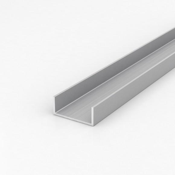 Алюмінієвий швелер шириною 55мм висотою 23мм товщина стінки 2,5мм без покриття