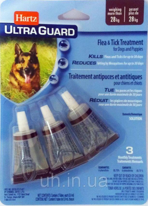 Hartz краплі від бліх та кліщів для цуценят і собак вагою більше 27 кг 5,9 мл