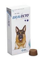 BRAVECTO жевательная таблетка от клещей и блох для собак весом от 20 до 40 кг