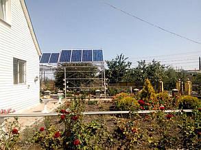 Солнечные батареи на садовой арке (третий массив).