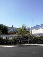 Общий вид солнечной электростанции на первом этапе строительства.