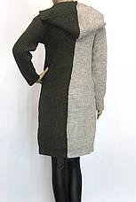 жіночий вязаний кардиган з капюшоном , фото 3