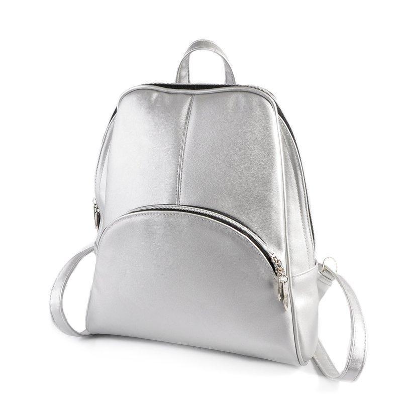 Серебристый рюкзак М134-98 средний женский городского типа  продажа ... 4fc941b7e9f