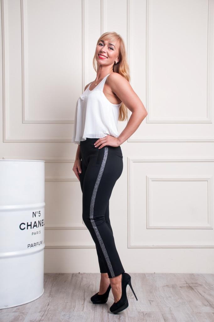 Женские укороченые брюки Тина черные