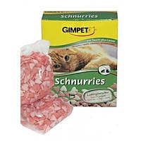 Gimpet Schnurries вітаміни-сердечка для кішок з таурином і ягням (650 шт) 420г