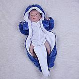 """Зимний комплект одежды для новорожденных, """"Космонавт+Weave"""" синий, фото 7"""