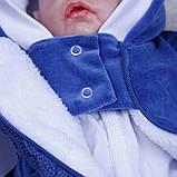 """Зимний комплект одежды для новорожденных, """"Космонавт+Weave"""" синий, фото 8"""