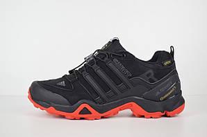 Зимние мужские кроссовки Adidas Terrex SWIFT на меху, черные с красным