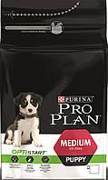 Про План Puppy Medium Optistart сухой корм для щенков средних пород с курицей 3 кг