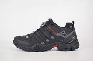 Зимние мужские кроссовки Adidas Terrex SWIFT на меху, черные