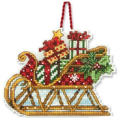Набор для вышивки крестом Sleigh Ornament Рождественское украшение Сани