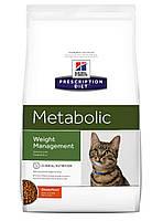 Hill's Prescription Diet Metabolic Feline лікувальний корм для котів з надмірною вагою або ожирінням, 4КГ