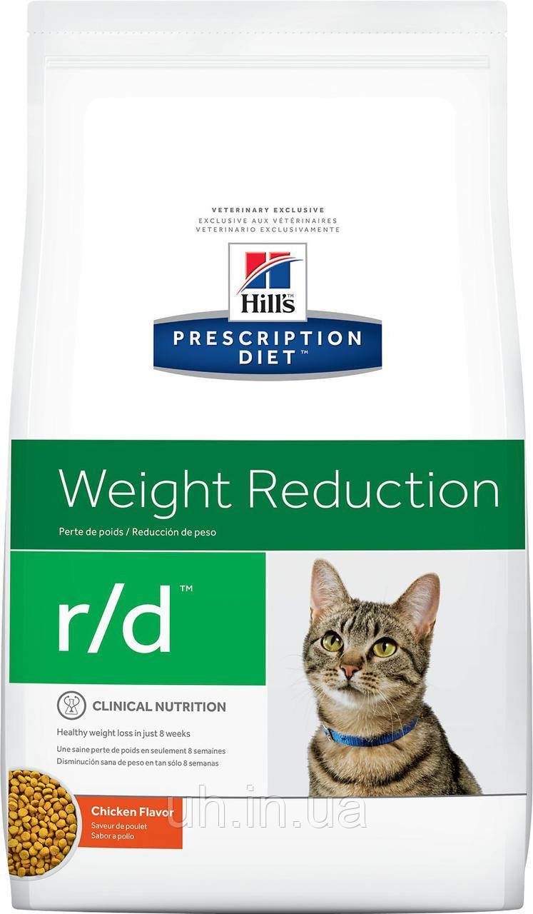Hill's Prescription Diet r/d Feline лечебный корм для регулирования избыточного веса у кошек 1,5КГ