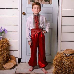 Красные шаровары на мальчика от 60см - до 100см