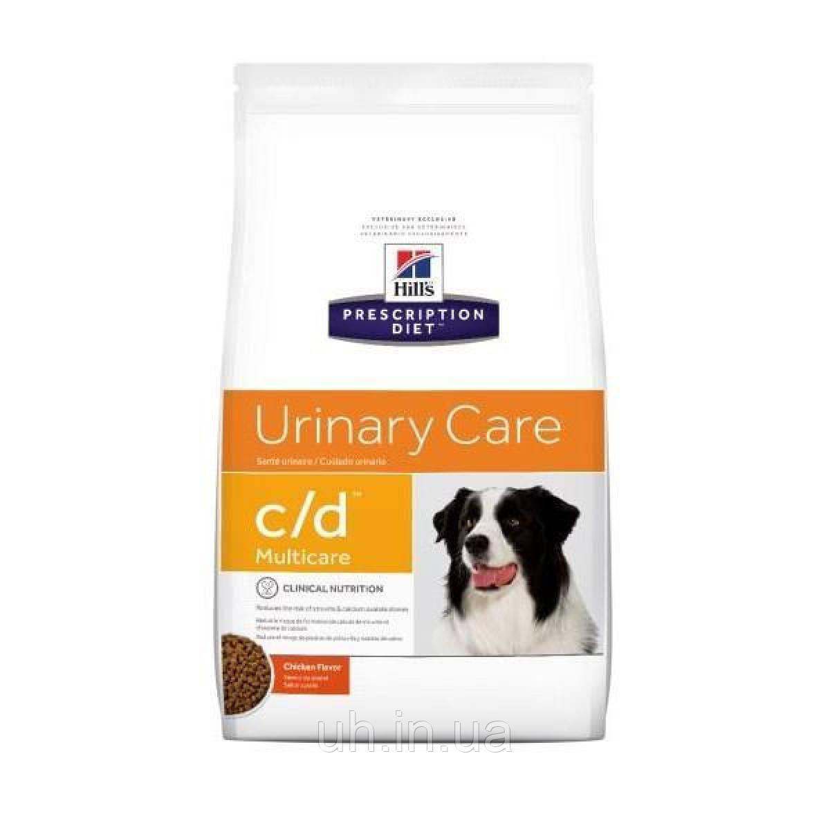 Hill's Prescription Diet Canine c/d Multicare лікувальний корм при рецидивах сечокам'яної хвороби 2КГ