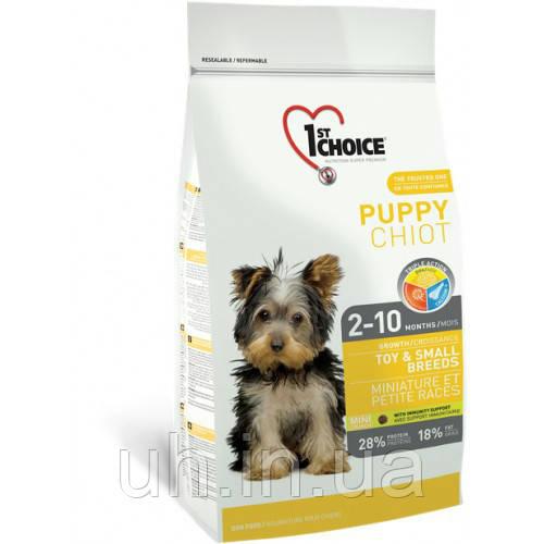 1st Choice Puppy Toy & Small Breeds сухий корм для цуценят малих порід 0,35 КГ