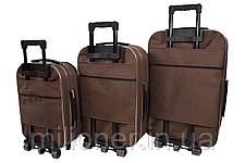 Чемодан Siker Lux набор 3 шт. коричневый, фото 2