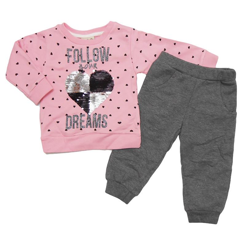 Костюм для девочки 86-104(1-4 года ) арт.4119 кофта+штаны