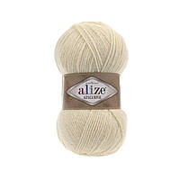 Пряжа  Alize Alpaca RoyaL 01 кремовый (Альпака Роял)