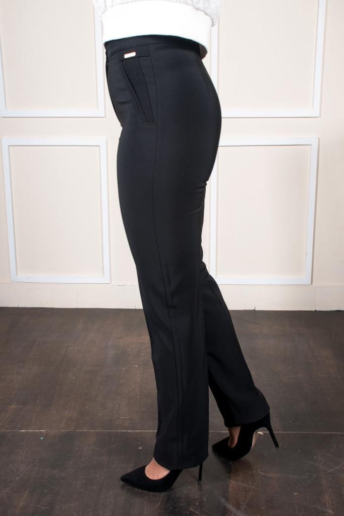 Молодежные брюки Шарлотта черные на байке