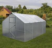 Теплица двускатная 3х4м, толщина поликарбоната 8 мм, стандарт