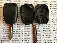 Корпус автоключа для OPEL (ОПЕЛЬ) Movano, Vivaro 2 кнопки, лезвие NE 73, с чипом id 46 частота 433 mhz