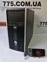 Игровой компьютер HP 6000, Intel Q6600 2.4GHz (4 ядра), RAM 8ГБ, HDD 500ГБ, Radeon HD 7570 1GB DDR5