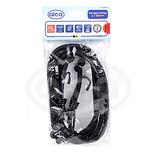 Эластичные ремни для крепления багажа с крюками 100 см (2шт) Transport Flex  Alcа 882 100 черный, фото 3