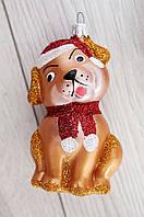 Новогодняя игрушка-шар Собачка 92958